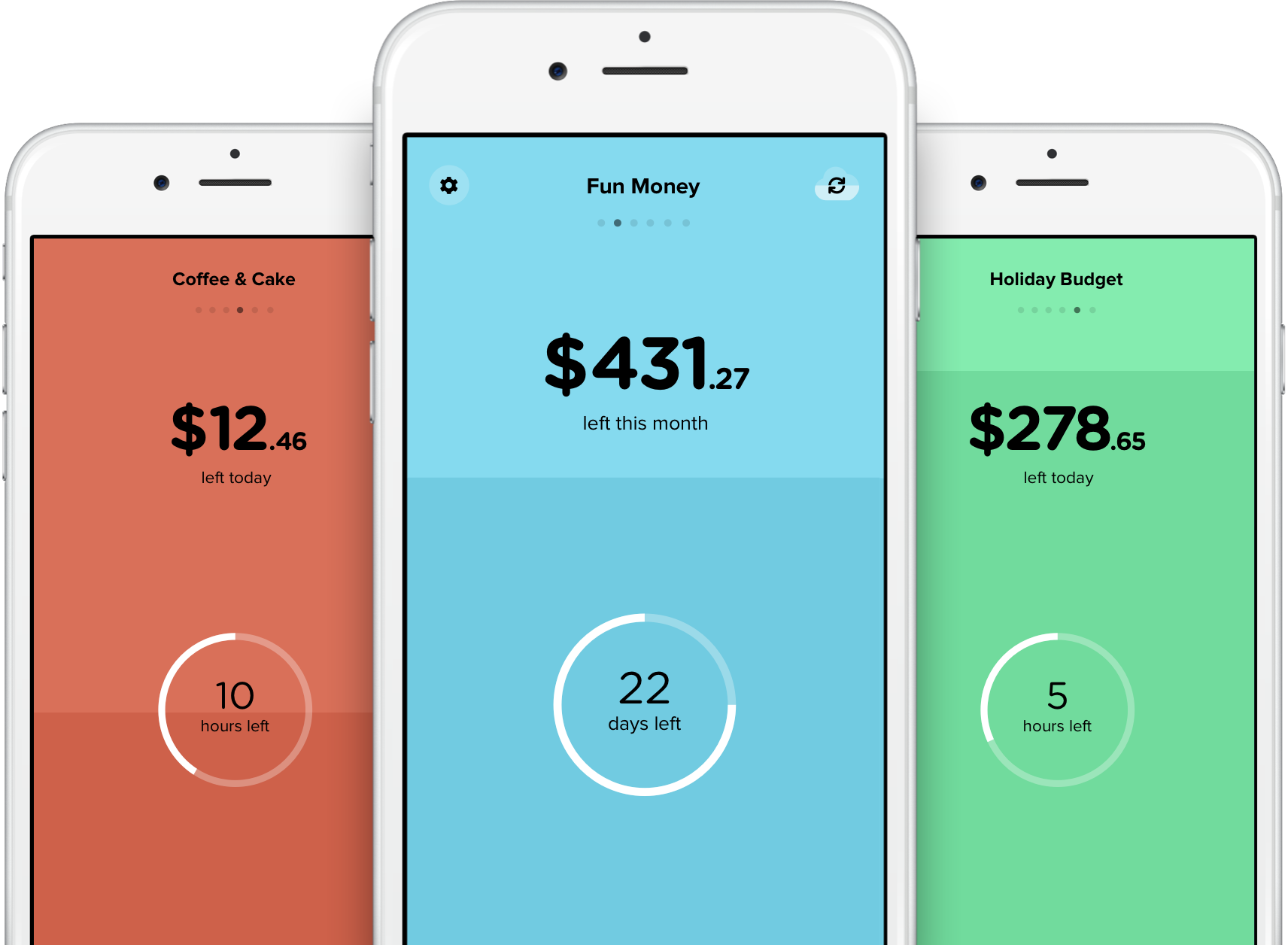 The Pennies iPhone app allows you to track multiple personal budgets