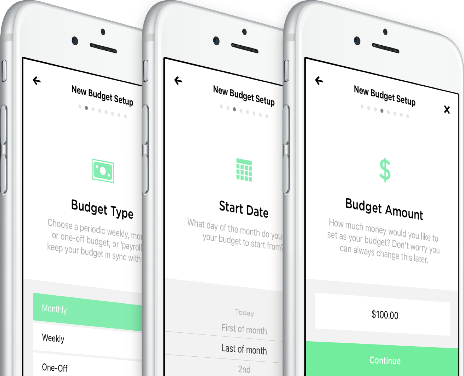 The Pennies iPhone app is simple to use and setup